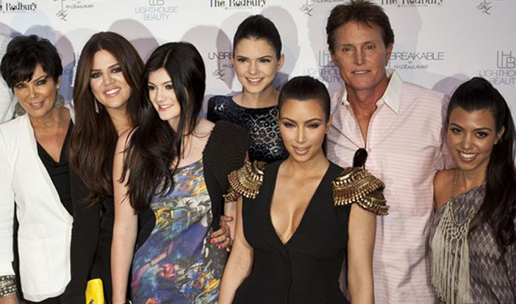 Bruce Jenner and the Kardashian family
