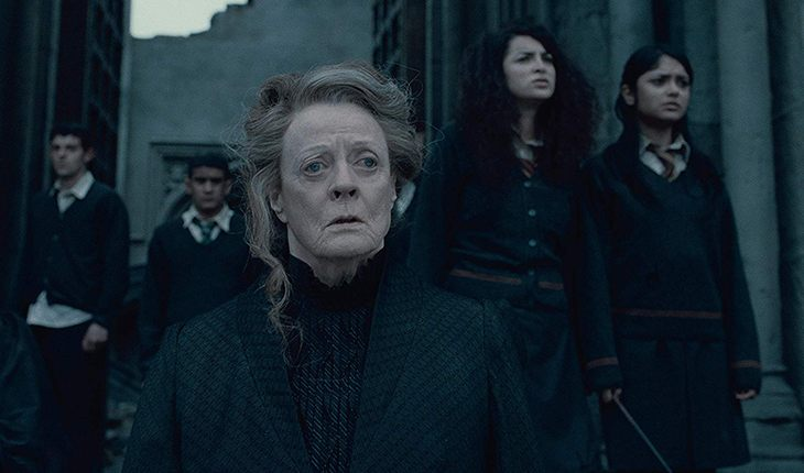 Maggie Smith and Anna Shaffer in the movie Harry Potter and the Deathly Hallows: Part II