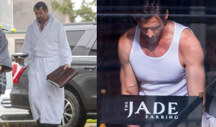 Hugh Jackman on 'Reminiscence' set