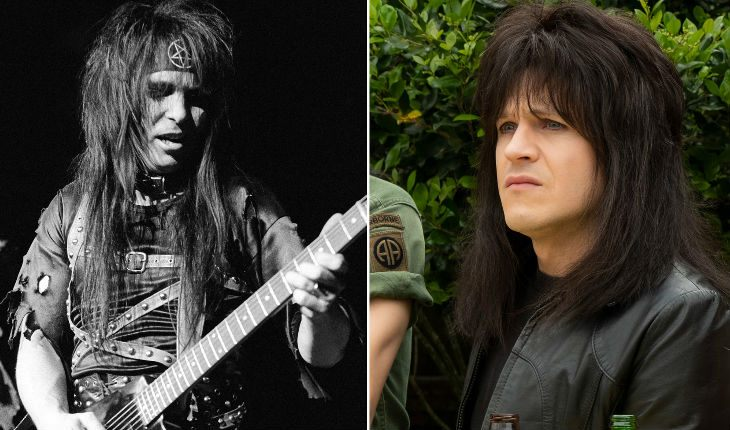 The real Mick Mars and Iwan Rheon in «The Dirt»