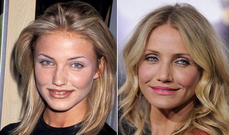 Cameron Diaz then and now