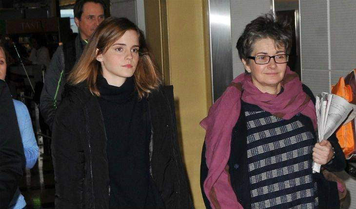 Emma Watson and her mom