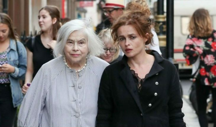 Helena Bonham Carter with mom
