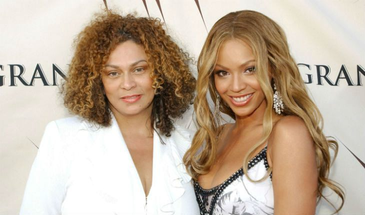Beyoncé with her mom
