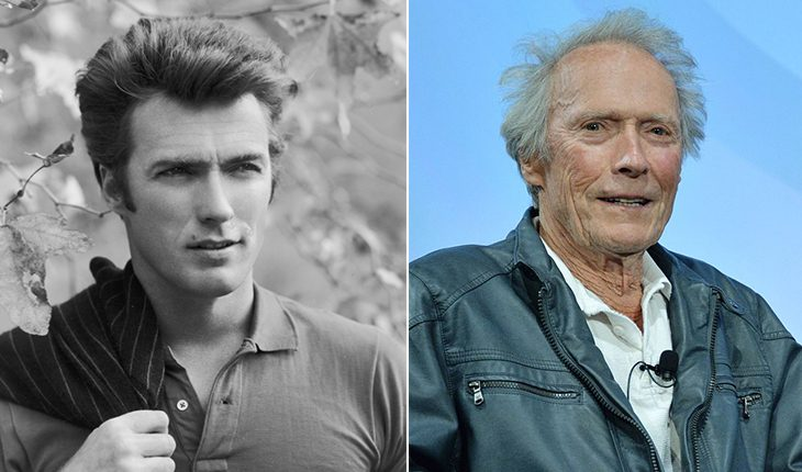Clint Eastwood then and now