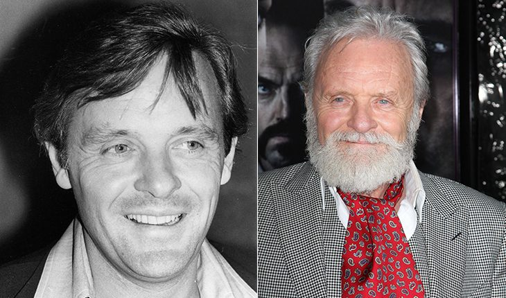 Anthony Hopkins than and now