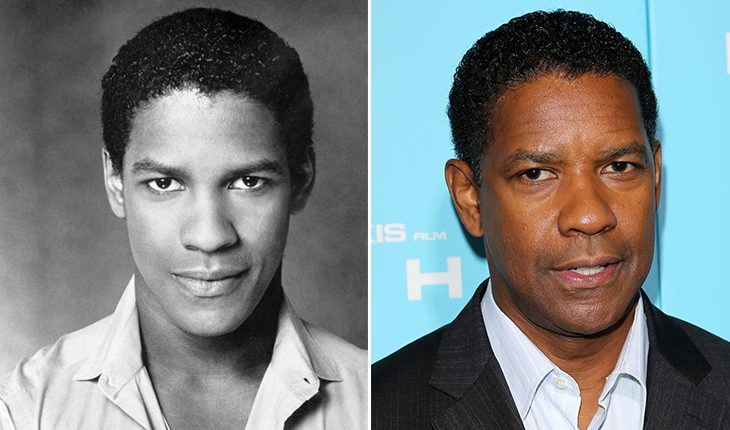 Denzel Washington then and now