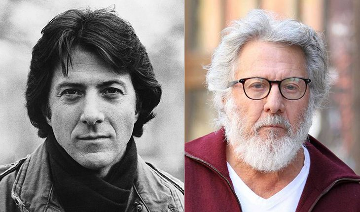 Dustin Hoffman then and now