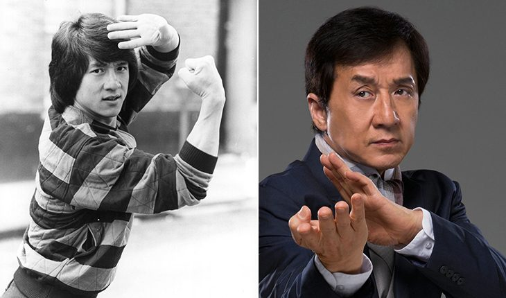 Jackie Chan then and now