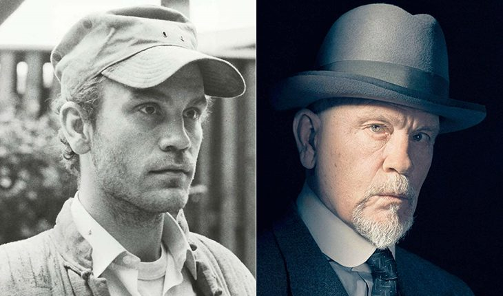 John Malkovich then and now