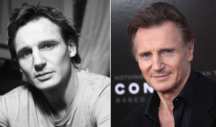 Liam Neeson then and now