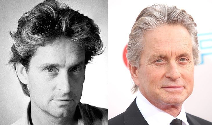 Michael Douglas then and now