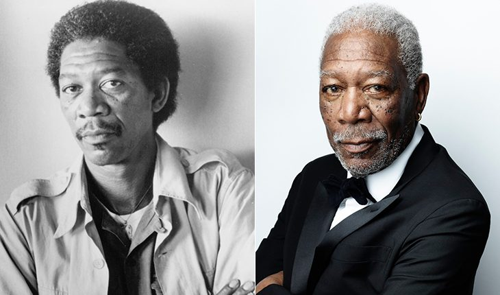 Morgan Freeman then and now