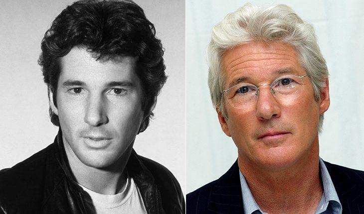 Richard Gere then and now