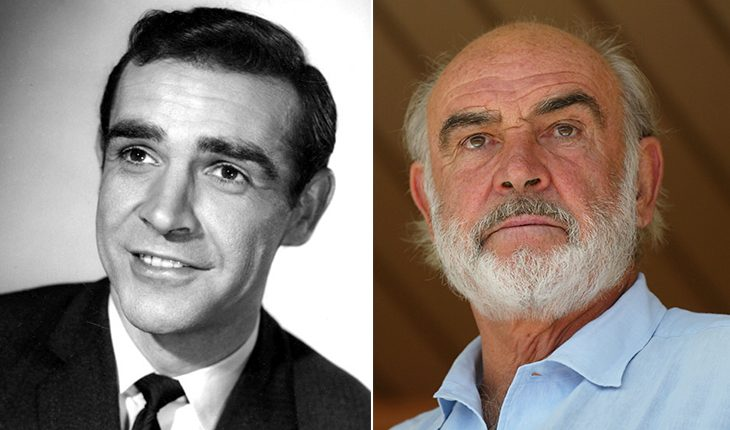 Sean Connery then and now