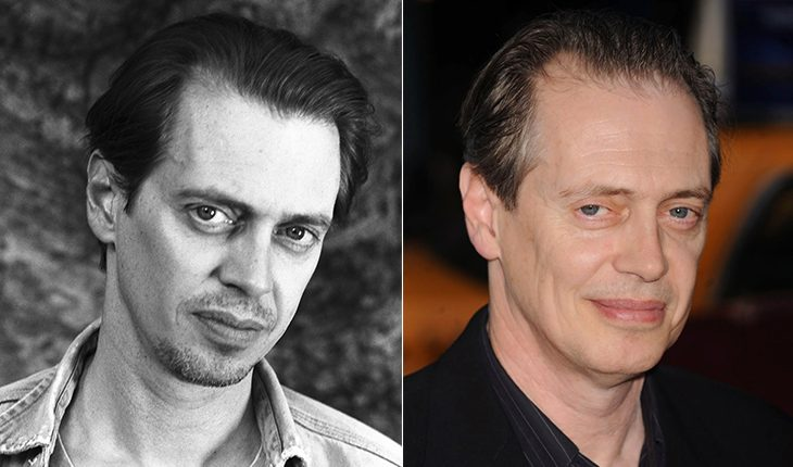 Steve Buscemi then and now