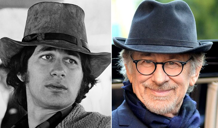 Steven Spielberg then and now