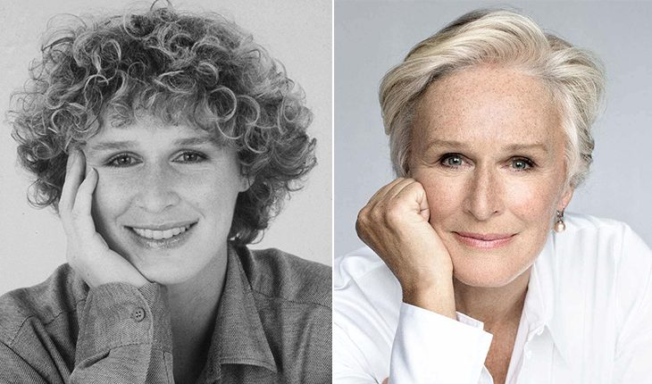 Glenn Close then and now