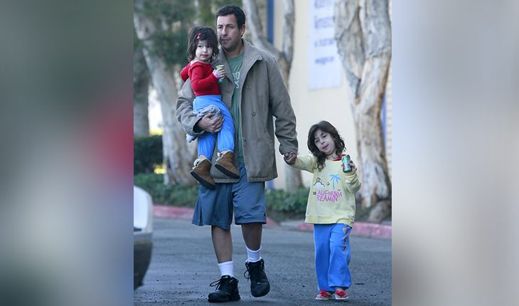 Adam Sandler and his daughters Sadie Madison and Sunny Madeline