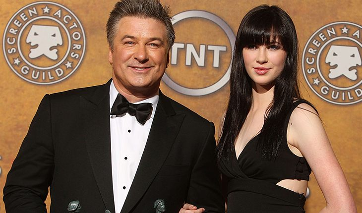 Alec Baldwin and his daughter Ireland from marriage with Kim Basinger
