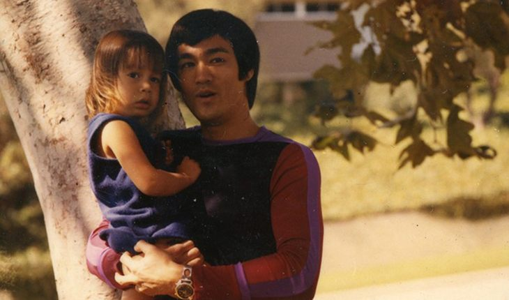 Bruce Lee with daughter Shannon