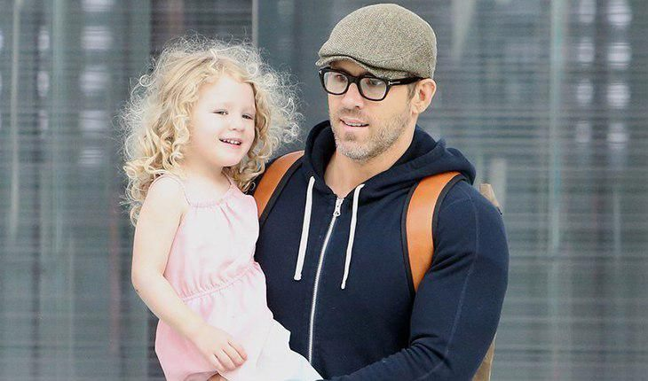 Ryan Reynolds and his eldest daughter James from Blake Lively