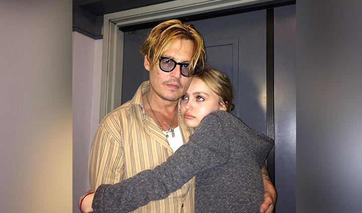 Johnny Depp and his daughter from Vanessa Paradis - Lily-Rose Melody