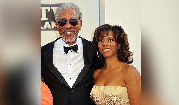 Morgan Freeman and his daughter Morgana Freeman