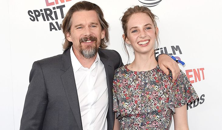 Ethan Hawke and his daughter from Uma Thurman - Maya Ray Thurman Hawk