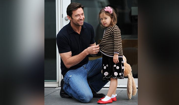 Hugh Jackman and his adopted Ava Eliot