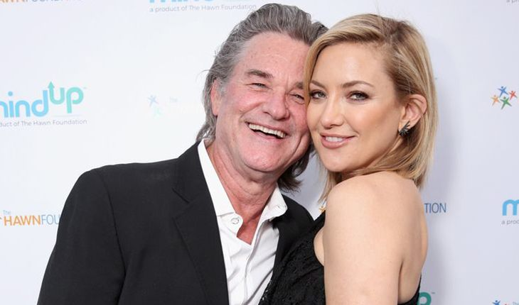 Kurt Russell and his adopted daughter Kate Hudson from marriage with Goldie Hawn