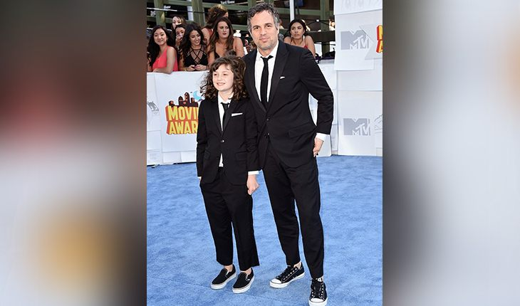 Mark Ruffalo with his eldest daughter Bella Noche