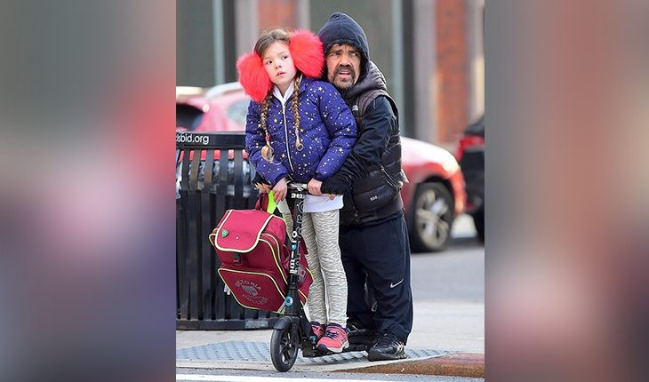 Peter Dinklage and his daughter Zelig