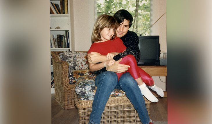 Steve Jobs and his daughter Lisa
