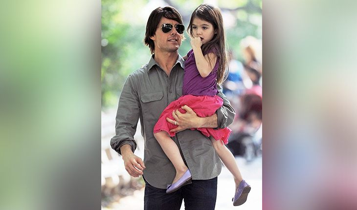 Tom Cruise and his daughter Suri from marriage with Katie Holmes