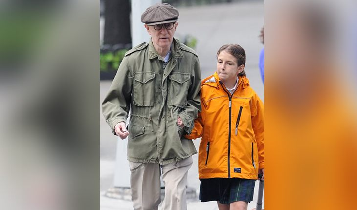 Woody Allen and his daughter Manzie Tio