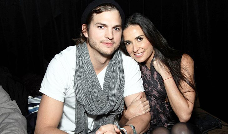 Ashton Kutcher and his first wife Demi Moore
