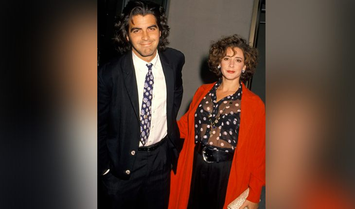 George Clooney and his first wife Talia Balsam