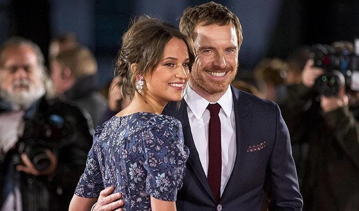Michael Fassbender and his wife Alicia Wikander