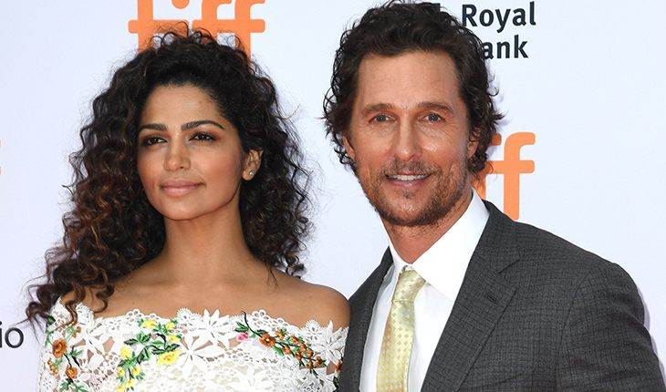 Matthew McConaughey and his wife Camila Alves