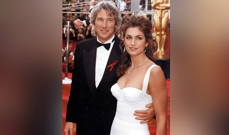 Richard Gere and his first wife Cindy Crawford