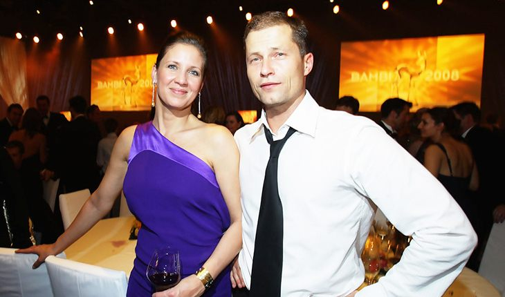 Til Schweiger and his wife Dan Carlsen