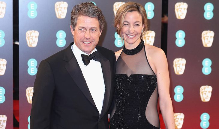 Hugh Grant and his wife Anna Eberstein
