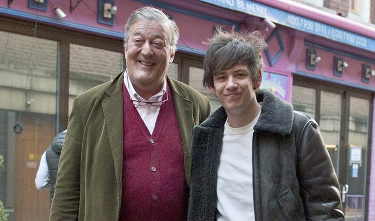 Stephen Fry and his husband Elliott Spencer