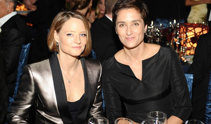 Jodie Foster with her wife Alexandra Hedison