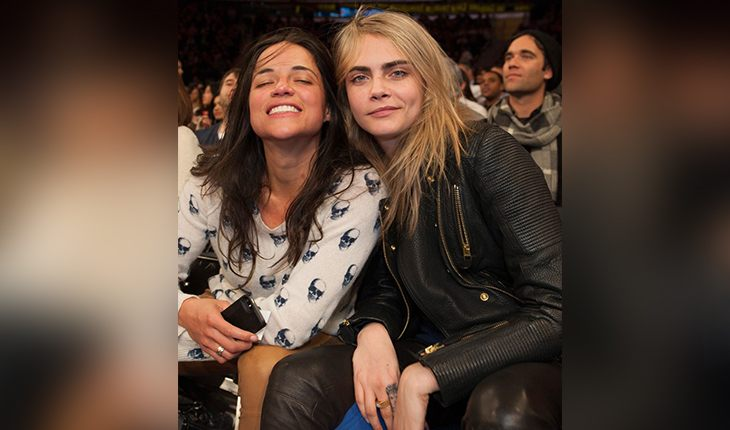 Michelle Rodriguez and her girlfriend Cara Delevingne