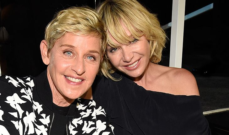 Ellen DeGeneres and her wife Porsche de Rossi