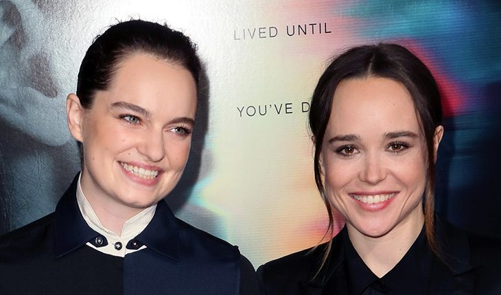 Ellen Page with his wife Emma Portner