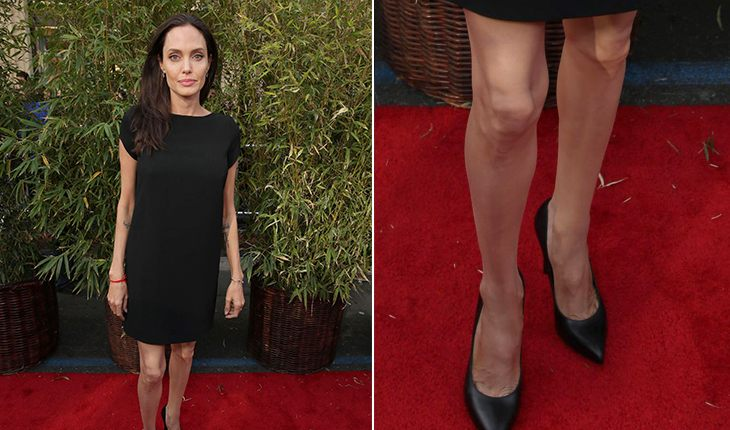 Angelina Jolie`s scary feet