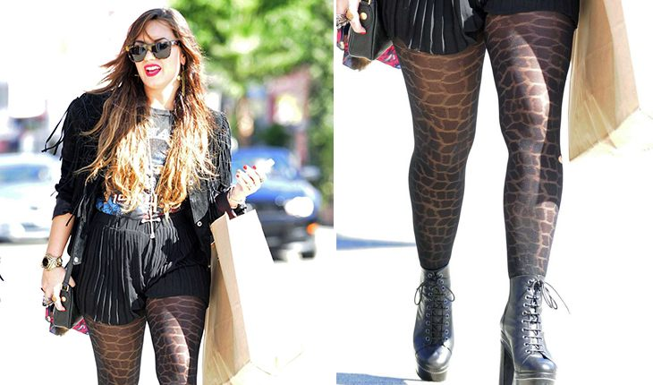 Demi Lovato`s crooked legs